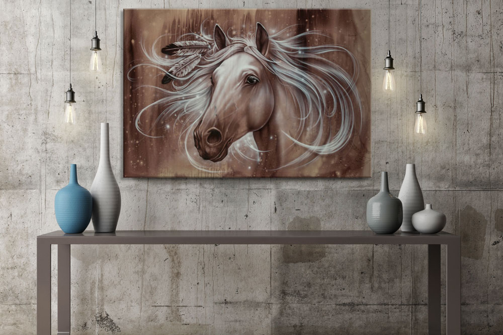 Attractive Horse Wall Art Canvas Print Spark Of Hope5 ...