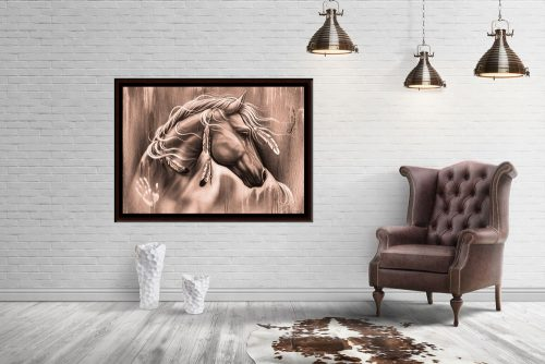 wild-spirit-large horse framed canvas print